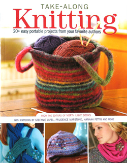 take along knitting book